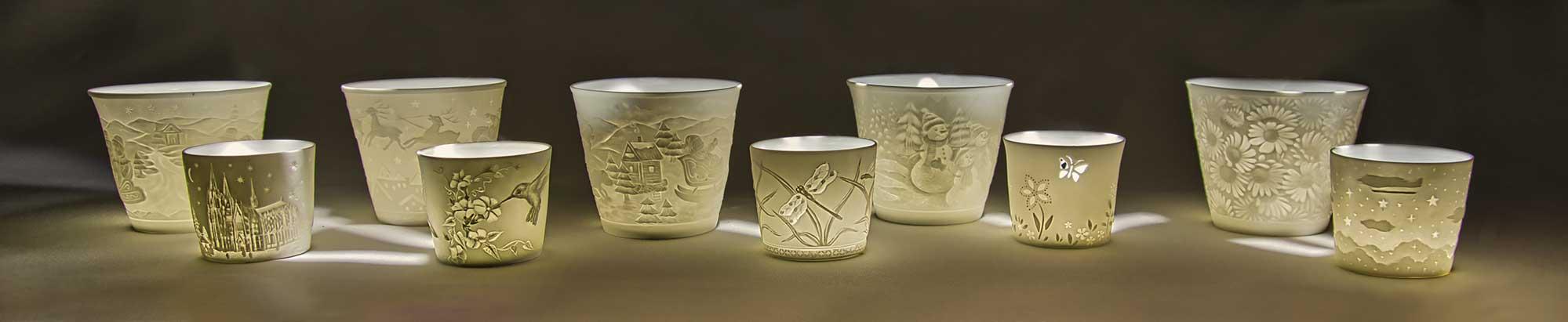 Starlight Votiv, Porzellan Teelichthalter