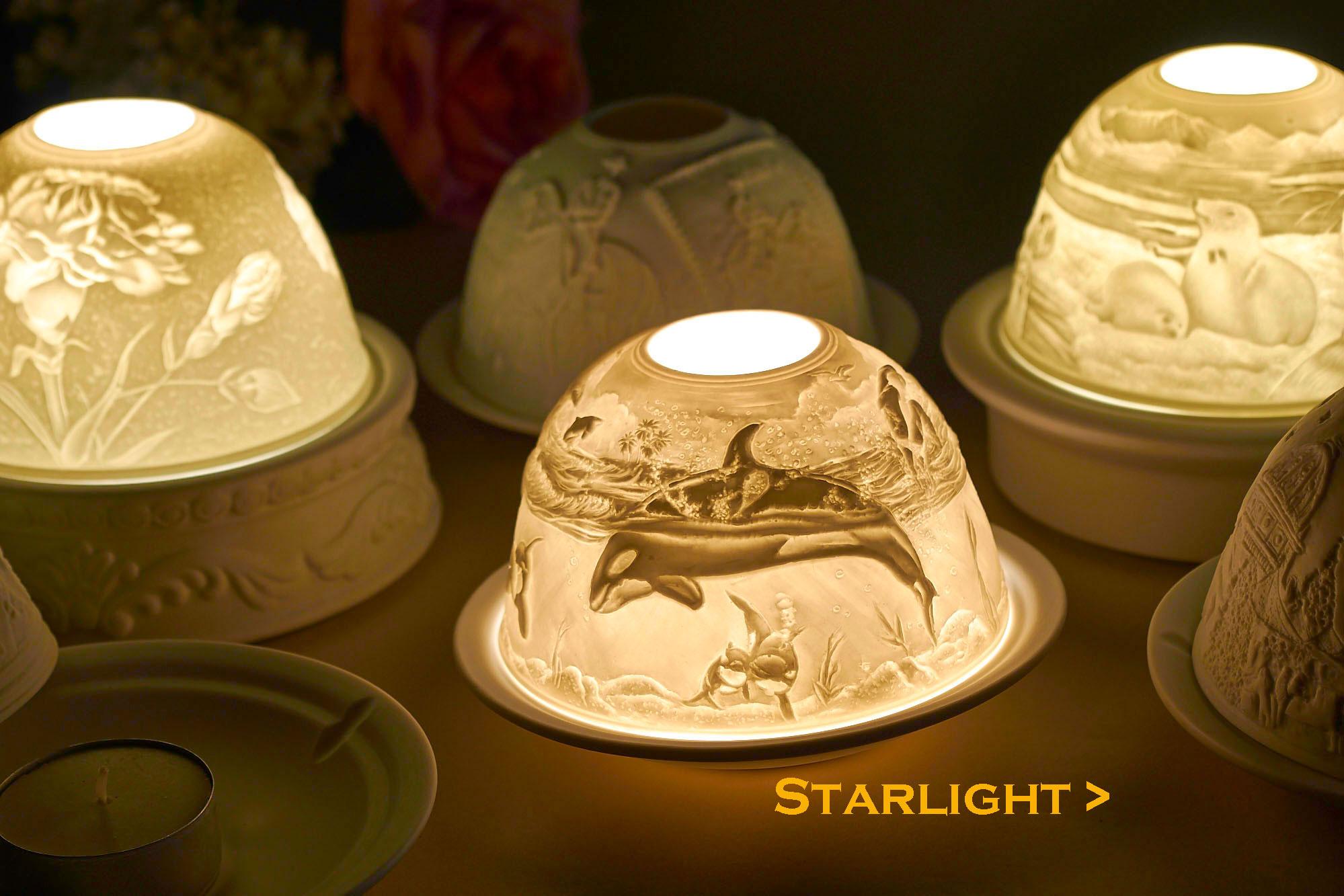 hellmann versand starlight porzellan teelichthalter