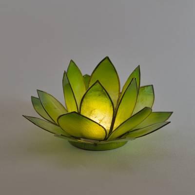 Lotosblüte Lotoslicht Nr.9 grün, Hoffnung - 1