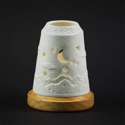Starlight Glocke Nr.127 Firmament mit Mond und Sterne als Durchbrüche - 1