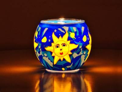 Leuchtglas 11cm Nr.77 Sonne - 1