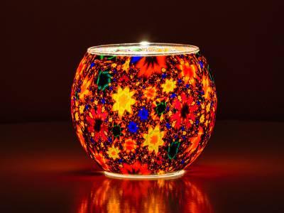 Leuchtglas 11cm Nr.468 Blumenmeer - 1