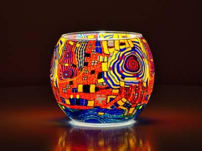 Leuchtglas 11cm Nr.506 Phantasiemotiv - 1