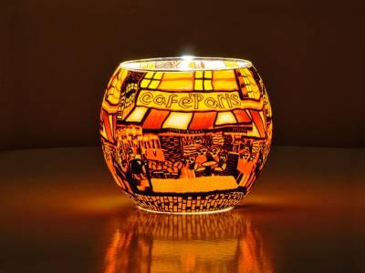 Leuchtglas 11cm Nr.576 Cafe Paris 2 - 1