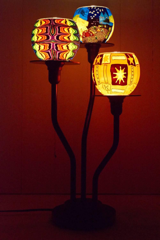 3-Arm Leuchtständer, Standleuchter - 2