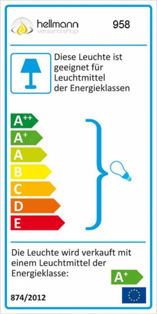Leuchtglas Lampe 11cm Nr.93 Fowerpower in grün, elektrisch betrieben - 11